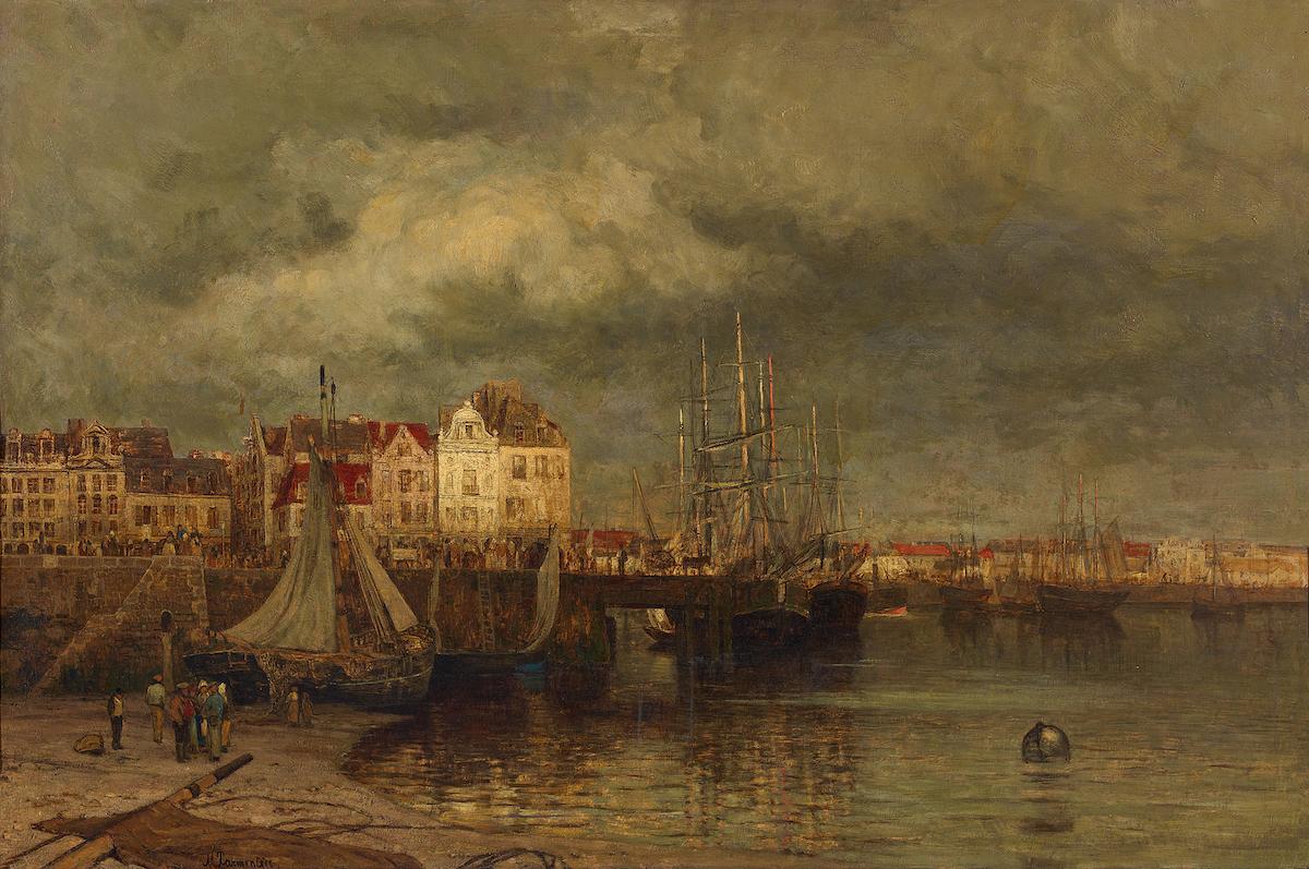 Maria von Parmentier, Der Hafen von Dieppe, vor 1878 © Staatliche Museen zu Berlin, Nationalgalerie / Andres Kilger