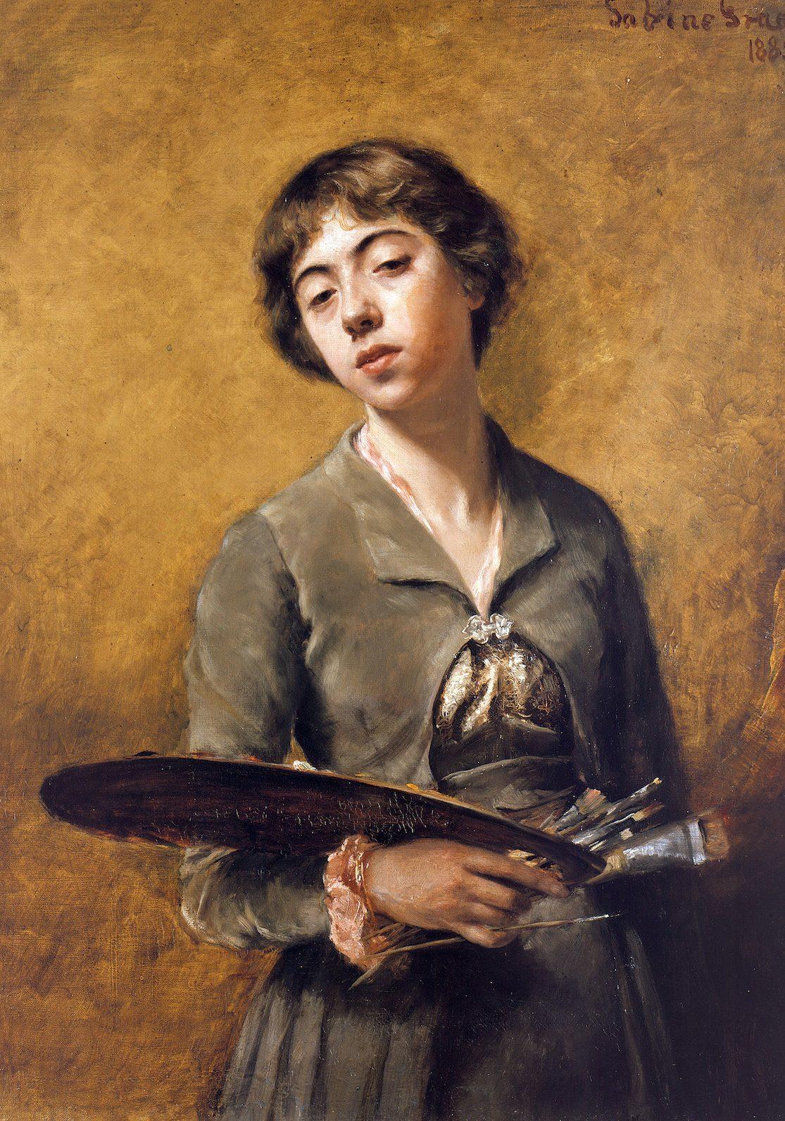 Sabine Lepsius, Selbstbildnis, 1885 © Staatliche Museen zu Berlin, Nationalgalerie / Jörg P. Anders