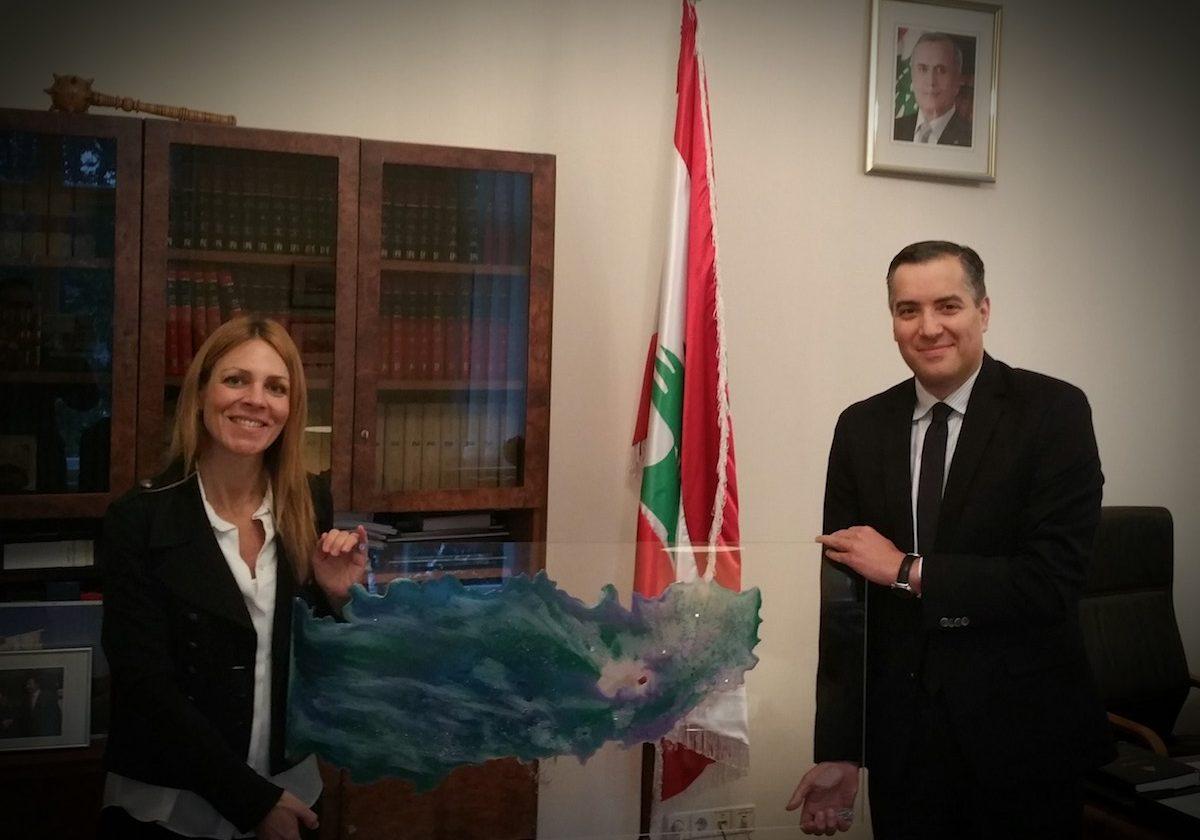 Dodo Newman with H.E. Dr. Mustapha Adib, Ambassador of the Republic of Lebanon, Germany © Dodo Newman