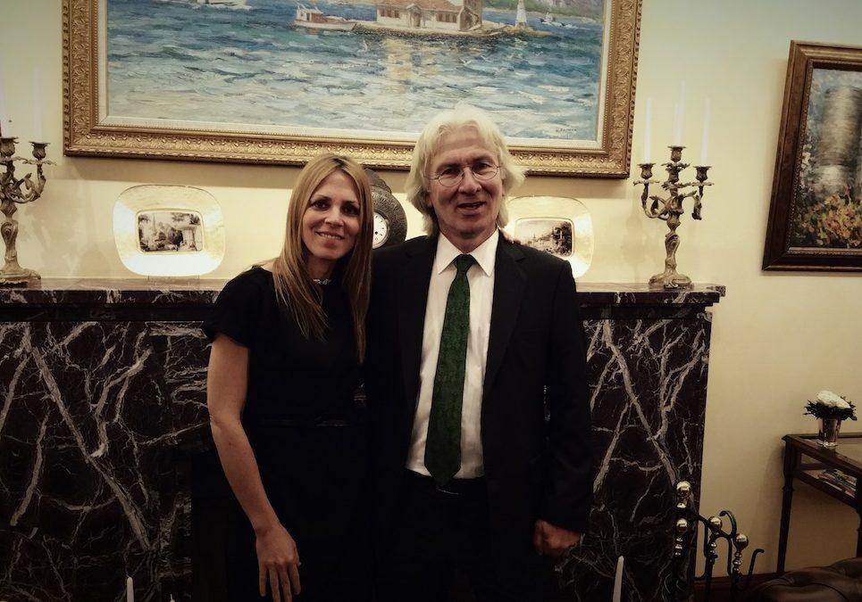 Dodo Newman with H.E. Hüseyin Avni Karslıoğlu, Ambassador of Turkey, Germany © Dodo Newman